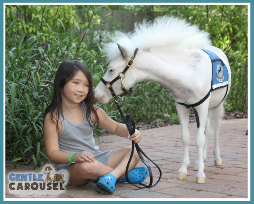 therapy horses snow angel gentle carousel hero hospital visit 869x697