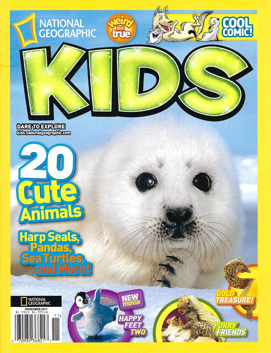 Therapy Horses Magic and Aladdin Bring Smiles In National Geographic Kids Magazine