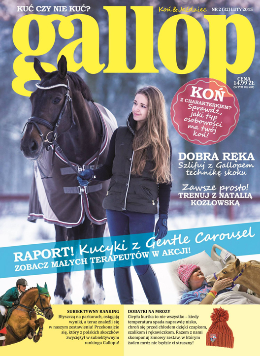 gallop magazine cover featuring gentle carousel therapy horses 528x725